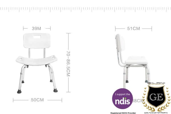 Compact Adjustable Shower Chair