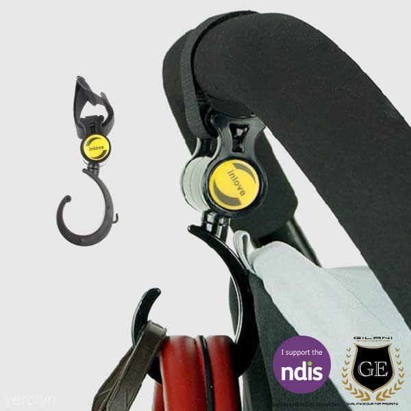 Practical Hook For Wheelchairs & Mobility Scooters 360 Degree's Hook